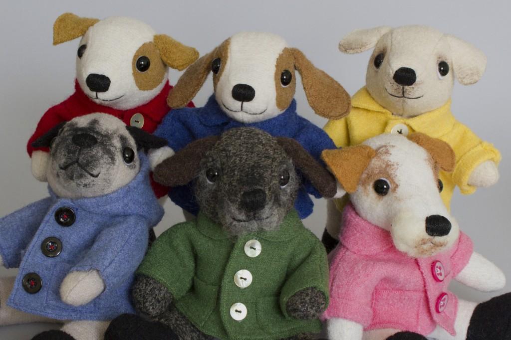 Gruppbild hundar